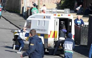 Lurgan violence: Petrol bombs thrown, two police injured