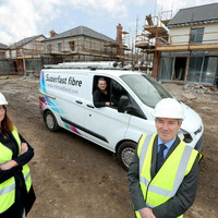 Fibre cables being directly installed to new homes in Belfast