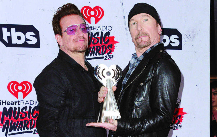 U2, Taylor Swift and Adele pick up gongs at iHeartRadio Awards