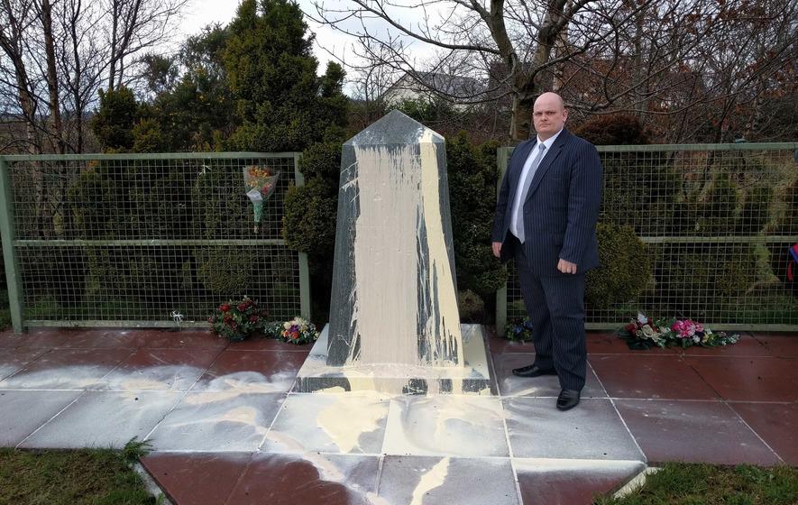 Teebane memorial paint attacks causing 'unbearable pain'