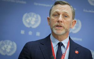 Daniel Craig calls for funding boost for UN anti-mine agency