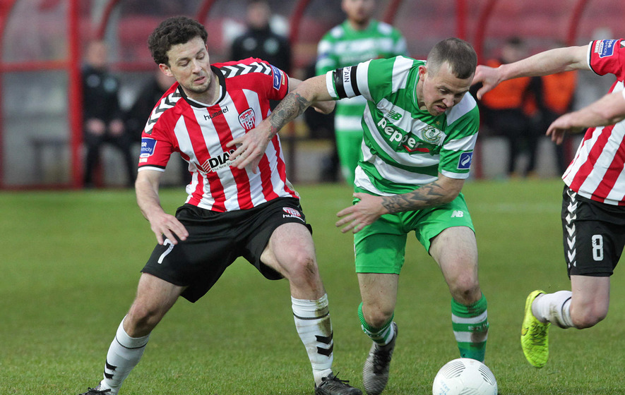 Trouble flares at Derry's Brandywell during clash with Shamrock Rovers
