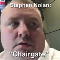 Stephen Nolan offers running video commentary on studio chair debacle