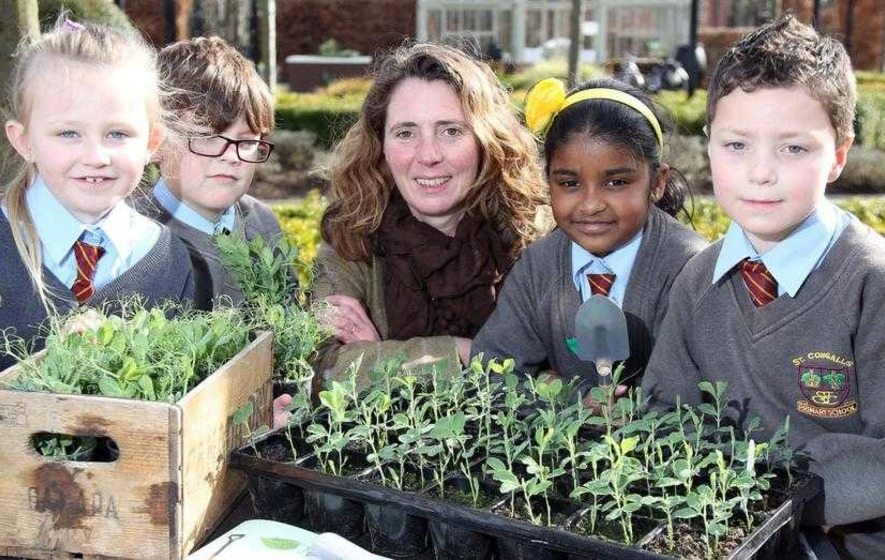 Jilly Dougan encouraging our children to be edible gardeners