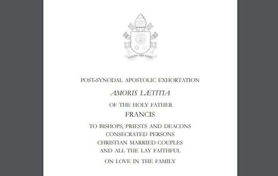 Massive demand for Pope Francis' Amoris Laetitia