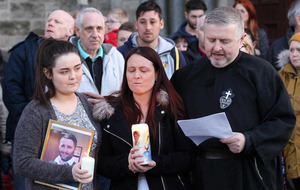 Michael McGibbon's widow tells vigil: 'Dissidents can't beat us'