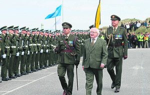 President Higgins visits Banna Strand to lead commemorations for Sir Roger Casement