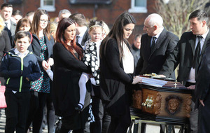 Widow tells Michael McGibbon's children: 'Daddy will give us strength'