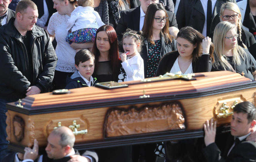 Michael McGibbon's widow thanks Protestant neighbours for their support since murder
