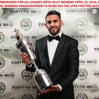 Leicester's Riyad Mahrez named PFA Player of the Year