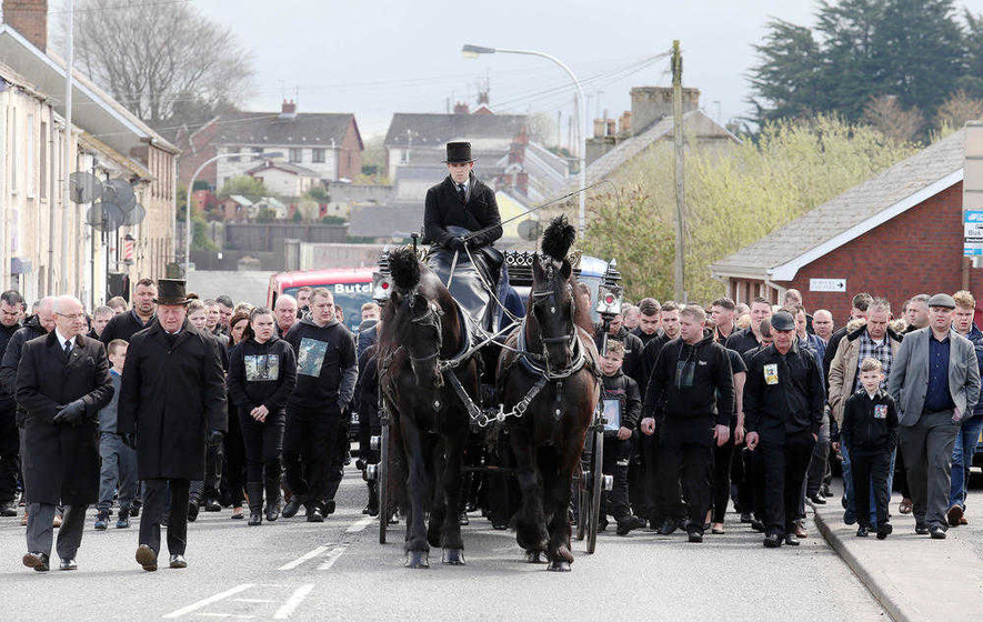 'It broke my heart to lose you': son's poem read at funeral