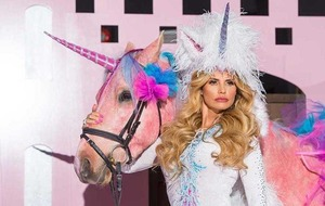 Katie Price had a horse dyed pink and dressed as a unicorn for her new reality TV show