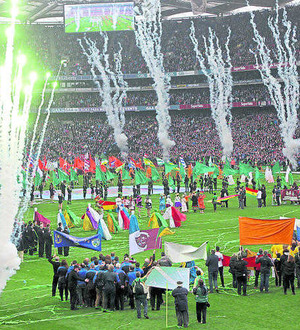 Sporting occasions promote positive national pride and joy