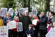 Pupils and parents protest against closure of Little Flower school