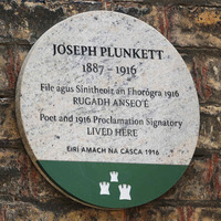 Easter Rising: Plaque unveiled in memory of leader Joseph Plunkett