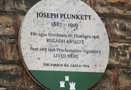 Easter Rising: Plaque unveiled in memory of leader Joseph Plunkett