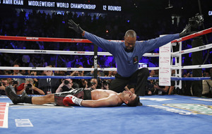 Amir Khan insists he's okay despite Saul Alvarez knockout