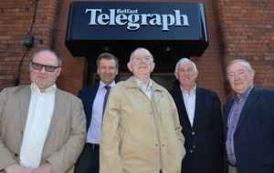 Belfast Telegraph staff gather to say farewell to landmark site