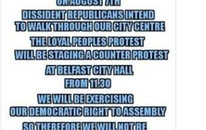 Loyalists 'will not seek permission' from Parades Commission for anti-internment counter protest