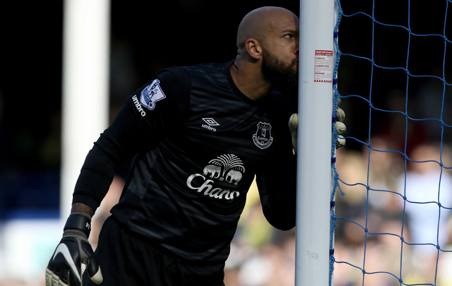 tim howard says goodbye to everton with a clean sheet