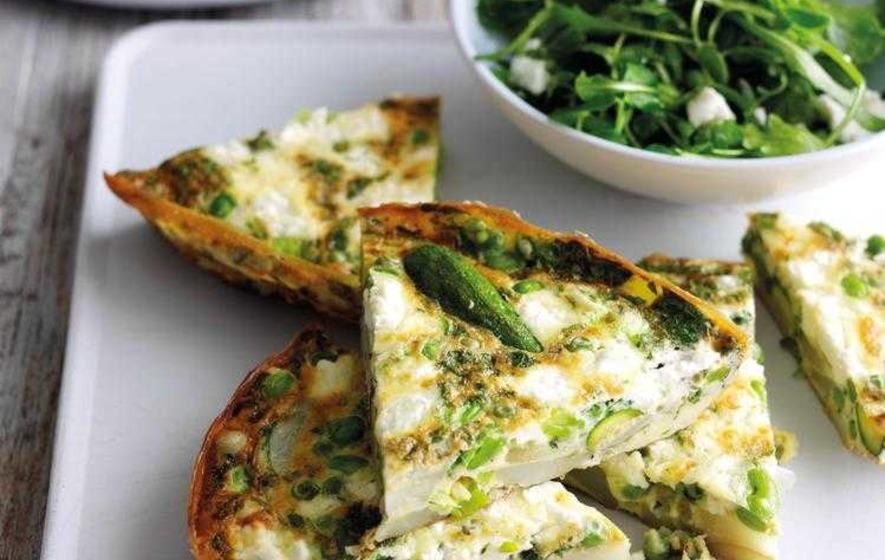 Potato And Vegetable Frittata Recipe — Dishmaps