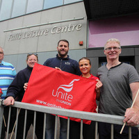Two Belfast leisure centres close as Unite workers strike over pensions
