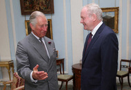Prince Charles talks to Arlene Foster and Martin McGuinness in separate meetings