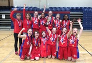 St Genevieve's girls celebrate double basketball victory