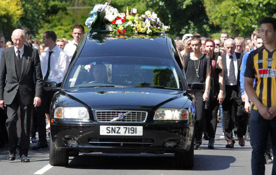 Funeral of murdered Gerard Quinn: priest's revenge warning