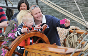 Major maritime festivals draw in bank holiday crowds