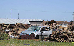 Car abandoned in Larne bonfire collection site
