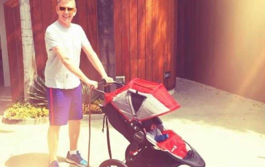 Patrick Kielty and Cat Deeley bring newborn son back to UK for the first time