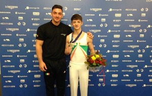 Rhys McClenaghan earns Ireland first ever European medal in gymnastics