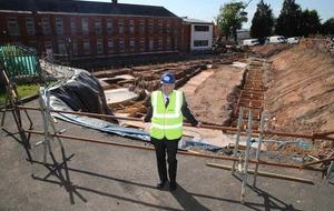 DUP's Peter Weir views Coláiste Feirste building work