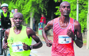 Eric Koech holds off his Dan Tanui for Derry victory
