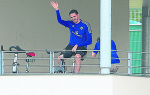 Northern Ireland's Kyle Lafferty eases fears over injury scare