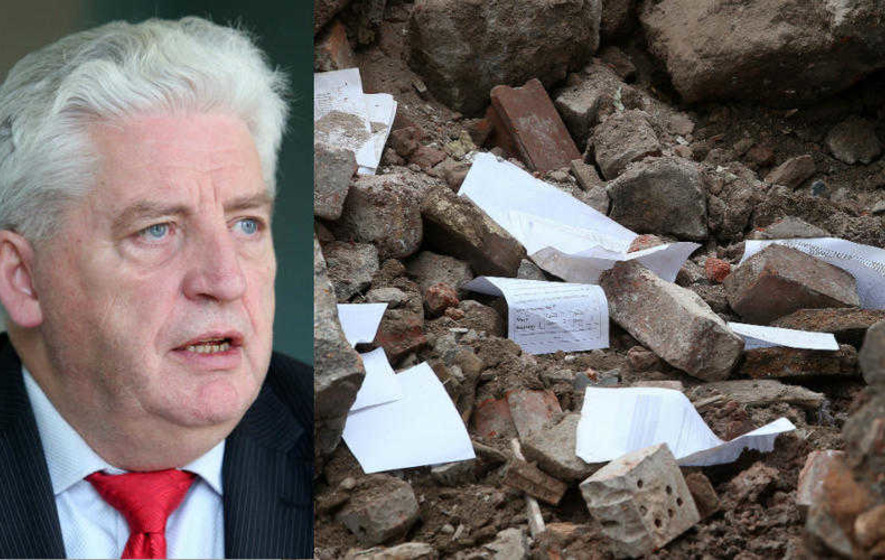 No action over medical files found in Alasdair McDonnell's demolished health centre