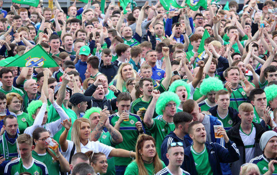 54222b98bb Irish fans champions are Euro 2016 champions for best flags