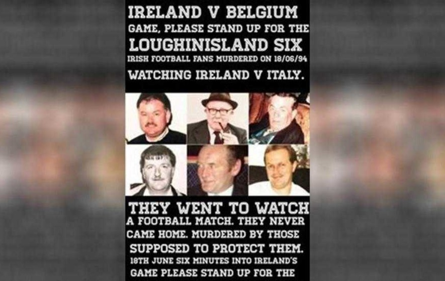 Social media campaign for football fans to 'stand up for the Loughinisland Six'