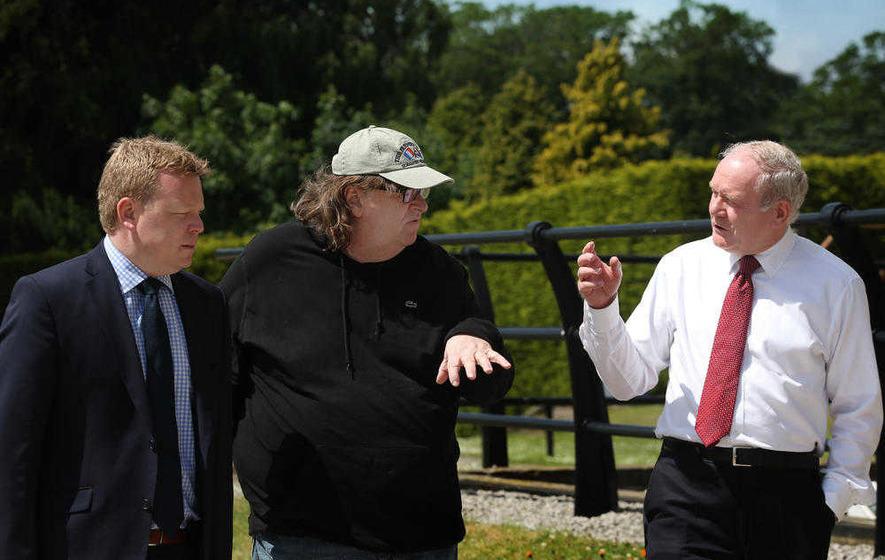 Michael Moore: Oscar-winning US filmmaker visits Belfast