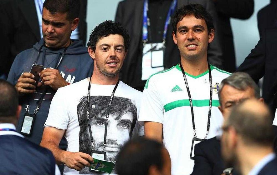 Rory McIlroy dons George Best T-shirt to cheer on men in green