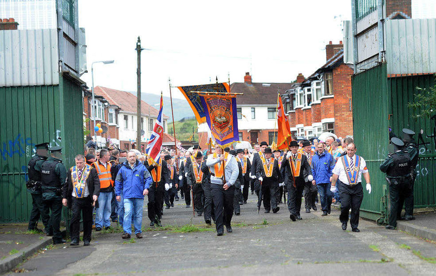Nationalist residents welcome ban on west Belfast parade