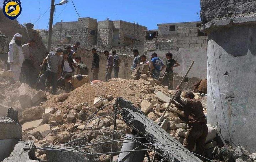 2 children among 18 civilians killed in Syria air strikes