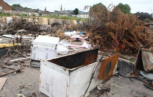 Asbestos found after illegal dumping on Belfast bonfire site
