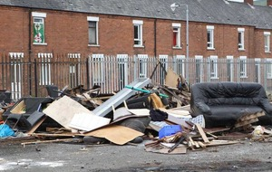 Warning of prosecutions after illegal dumping at Belfast bonfire site