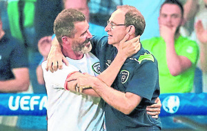 I hug people all the time says Republic of Ireland's Roy Keane