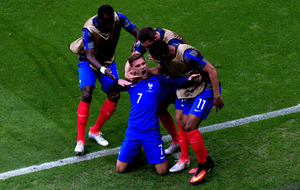 Euro 2016: Antoine Griezmann double sees France through against brave Republic of Ireland
