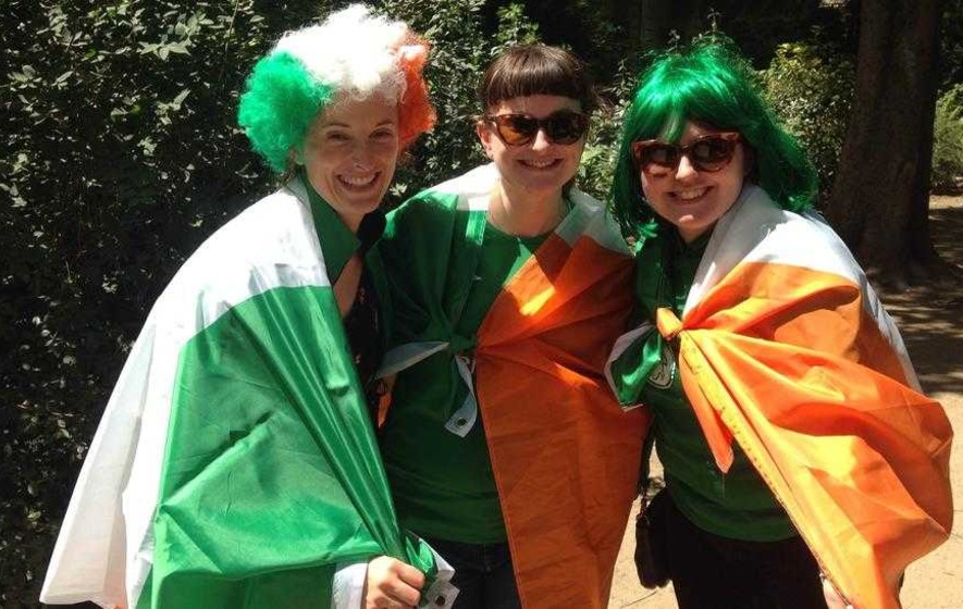 Irish fans in Paris deflated after narrow defeat to France in knock-out stages