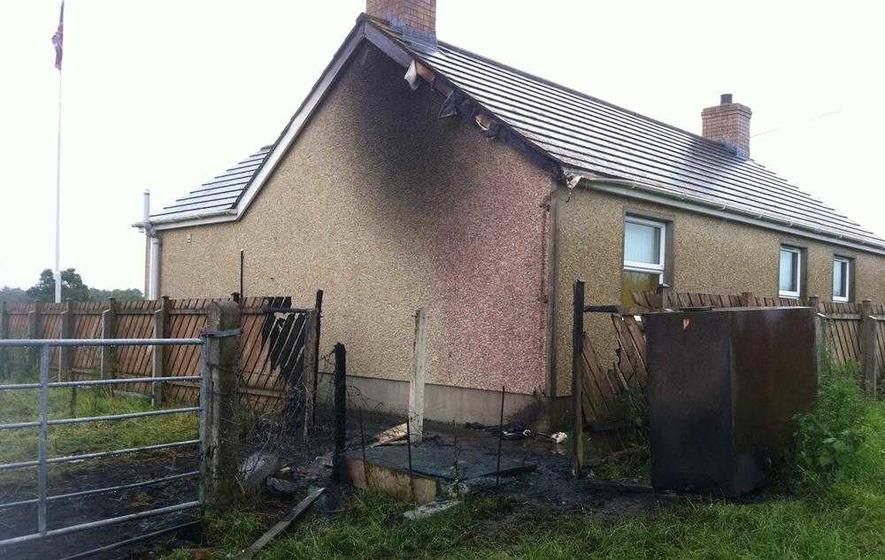 Orange hall damaged in overnight arson attack