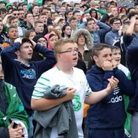 Nail-biting 90 minutes at fanzones in Belfast and Dublin